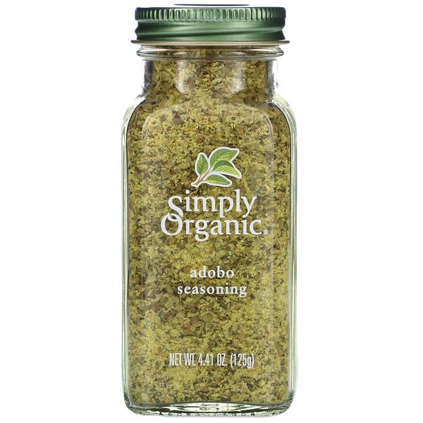 Simply Organic, Приправа Adobo, 125 г (4,41 унции)
