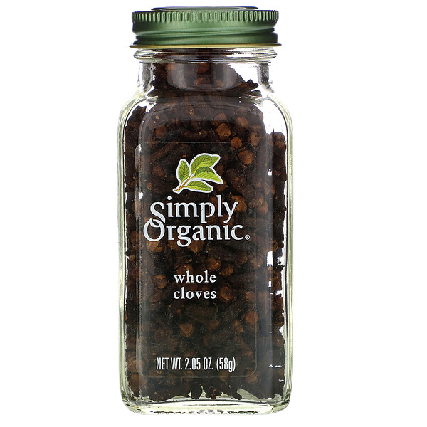 Simply Organic, Целая гвоздика, 2,05 унции (58 г)