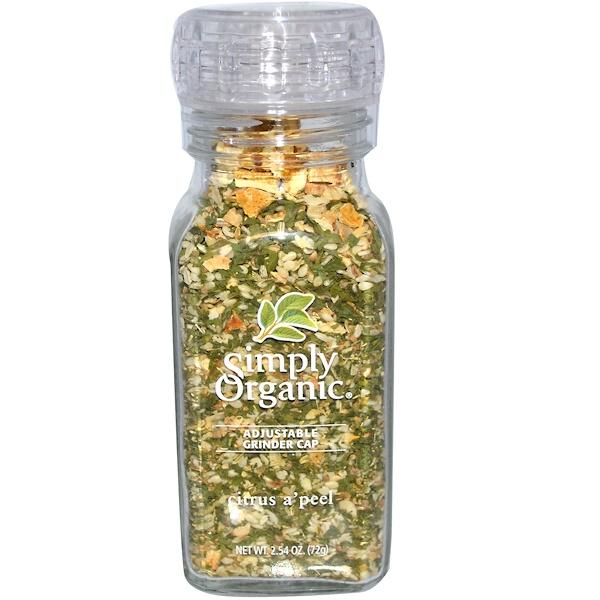 Simply Organic, Цитрусовые Эй Пил , 2,54 унции (72 г) (Discontinued Item)