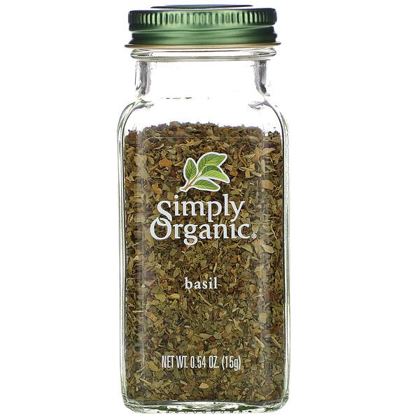 Simply Organic, Базилик, 15 г (0,54 унции)