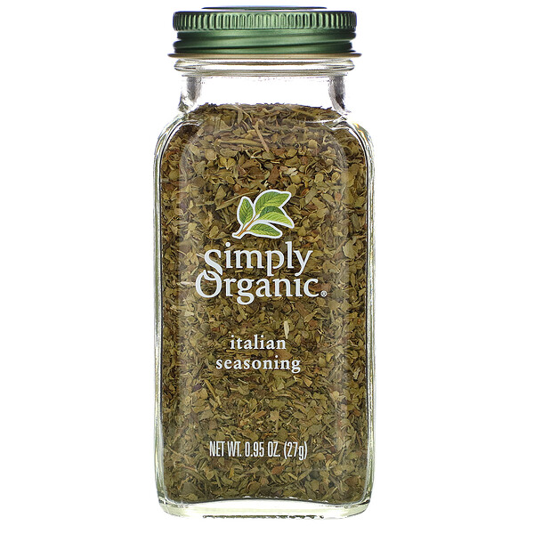 Simply Organic, Итальянская приправа, 27 г (0,95 унции)
