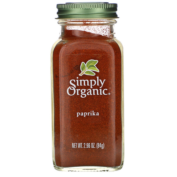 Simply Organic, Паприка, 84 г (2,96 унции)