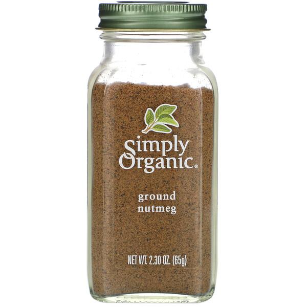 Simply Organic, Молотый мускатный орех, 65 г (2,30 унции)