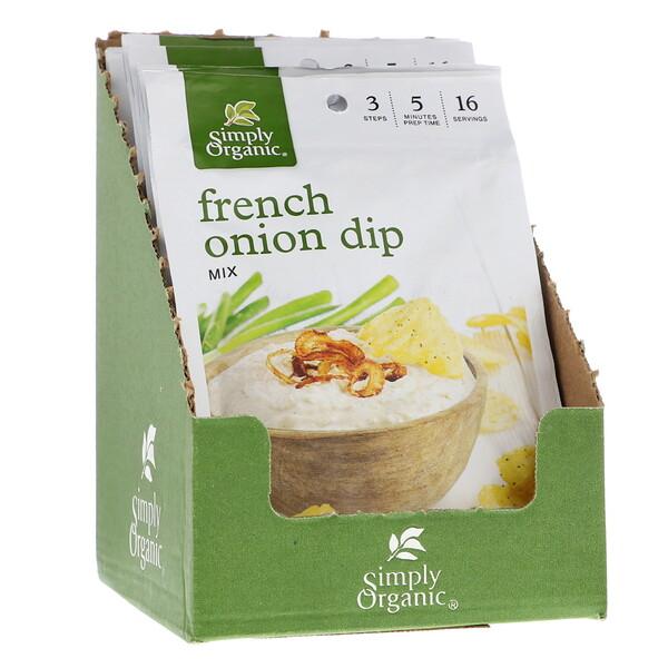 Simply Organic, Смесь для французского лукового соуса, 12 пакетиков по 31 г