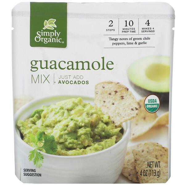 Simply Organic, Organic, Guacamole Mix, 4 oz (113 g)