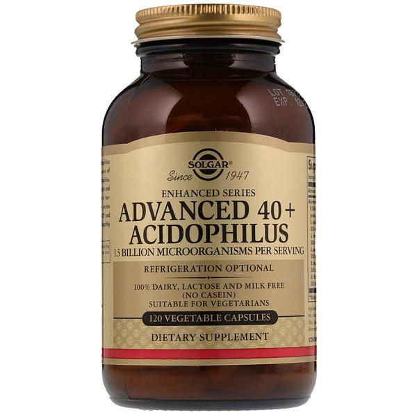 Улучшенный ацидофилус 40+, 120 вегетарианских капсул