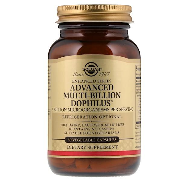 Advanced Multi-Billion Dophilus, 60 растительных капсул