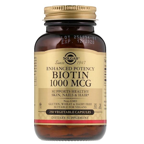Биотин, 1000 мкг, 250 растительных капсул