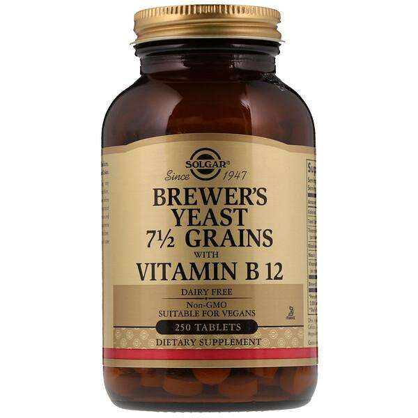 Пивные дрожжи 7 1/2 Grains, с витамином B12, 250 таблеток