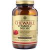 Solgar, Жевательный витамин С, с натуральным клюквенно-малиновым вкусом, 500 мг, 90 жевательных таблеток