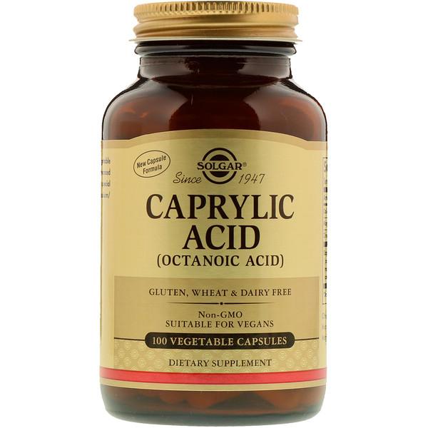 Solgar, Каприловая кислота, 100 растительных капсул