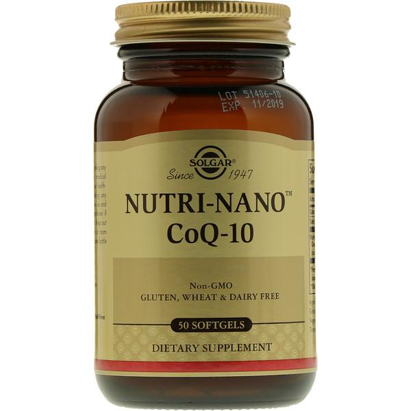 Solgar, Nutri-Nano CoQ-10, 50 мягких желатиновых капсул