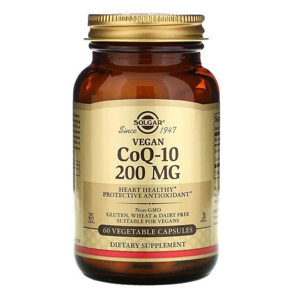 Вегетарианский коэнзим Q-10, 200мг, 60растительных капсул