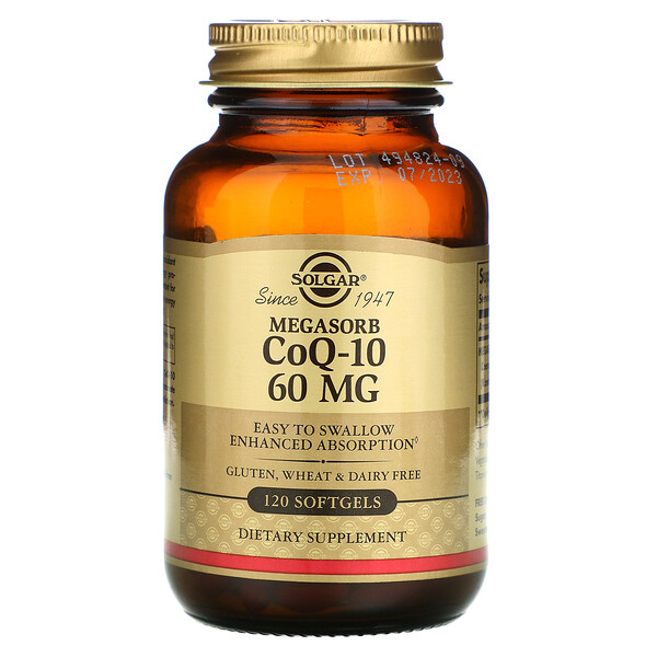 Коэнзим Q10 с мегасорбом, 60мг, 120мягких таблеток