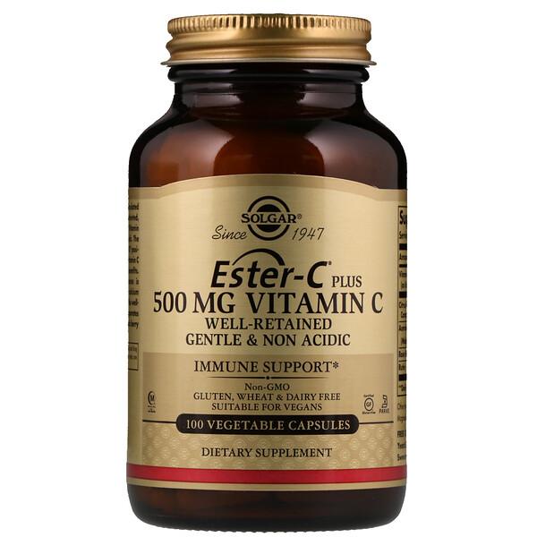 Ester-C Plus, Витамин C,  500 мг, 100 вегетарианских капсул