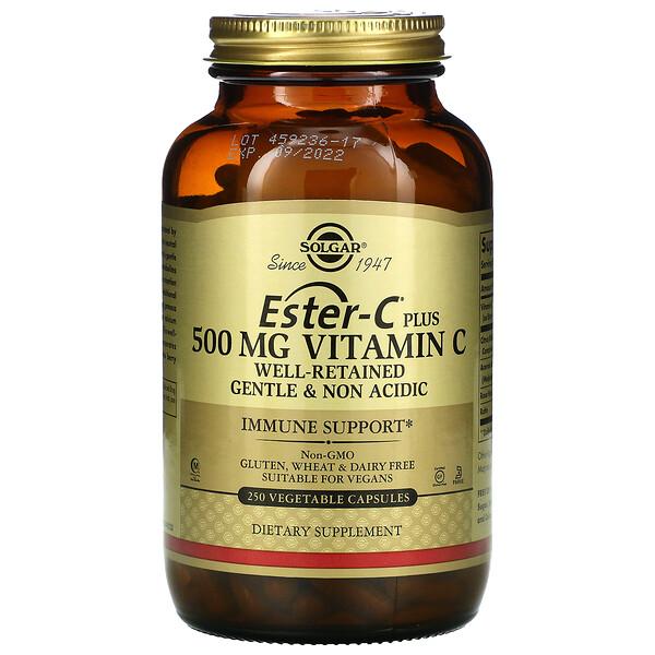 Ester-C Plus, витаминC, 500мг, 250растительных капсул