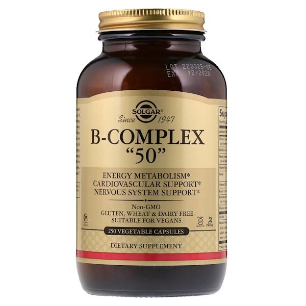 """Комплекс витаминов В """"50"""", 250 растительных капсул"""
