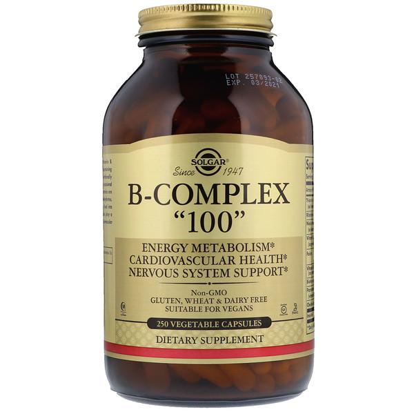 """B-комплекс """"100"""", 250 растительных капсул"""
