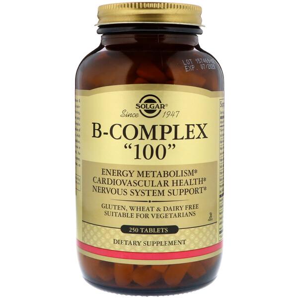 Solgar, B-комплекс «100», 250 таблеток
