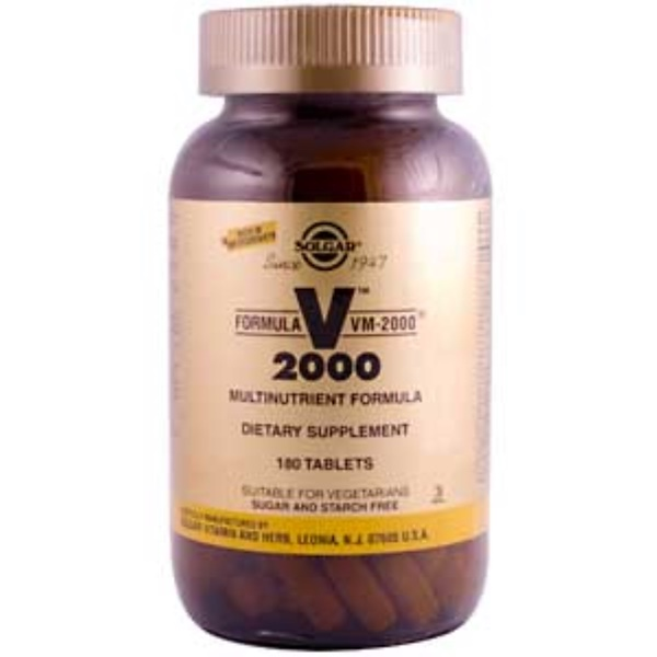 Solgar, V 2000, формула VM-2000, 180 таблеток (Discontinued Item)