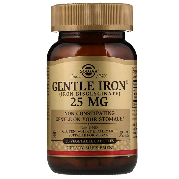 Gentle Iron, 25мг, 90растительных капсул