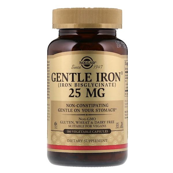 Gentle Iron, 25 мг, 180 растительных капсул