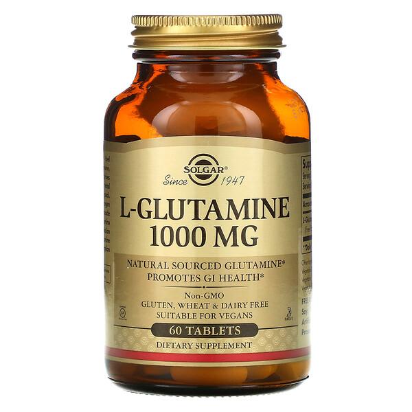 Solgar, L-Glutamine, 1000 мг, 60 таблеток