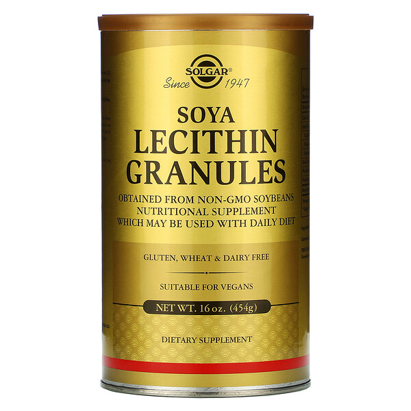 Solgar, Гранулы соевого лецитина, 454 г (16 унций)