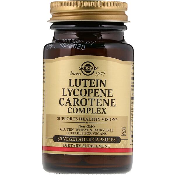 Lutein Lycopene Carotene Complex, 30 Vegetable Capsules