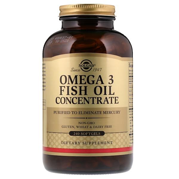 Омега-3 рыбий жир, концентрат, 240 мягких таблеток