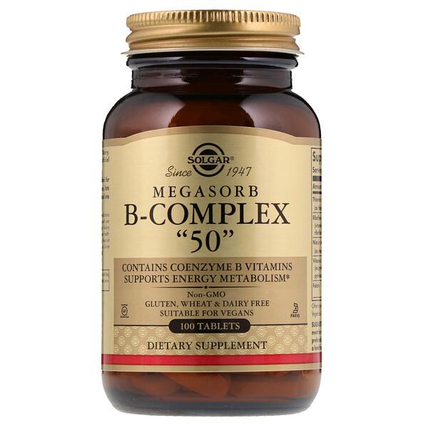 """Комплекс витамина B  Megasorb """"50"""", 100 таблеток"""