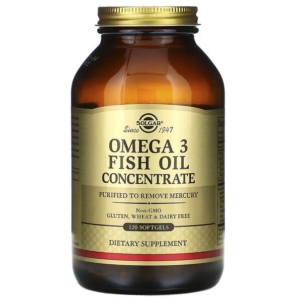 Омега-3 рыбий жир, концентрат, 120 мягких таблеток