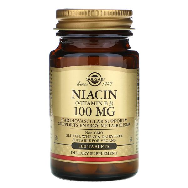 Ниацин (витамин В3), 100мг, 100таблеток