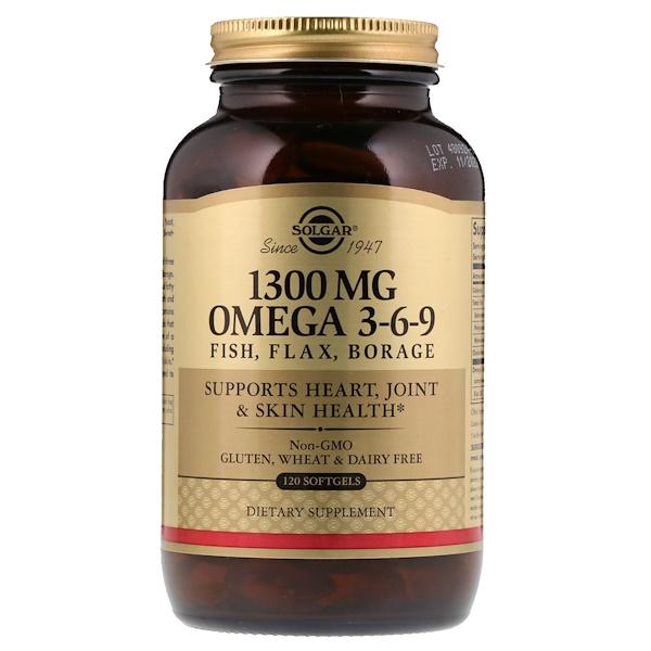 Омега 3-6-9, 1300 мг, 120 мягких таблеток