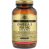 Солгар, Омега-3 ЭПК и докозагексановая кислота, Тройная сила, 950 мг, 100 капсул