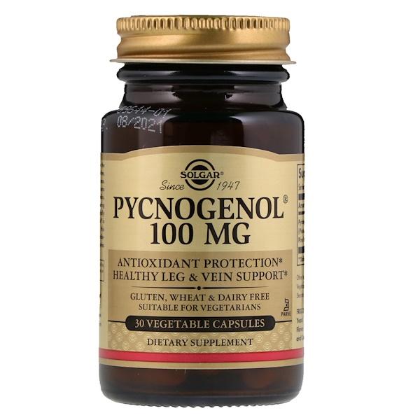 Pycnogenol, 100 мг, 30 растительных капсул