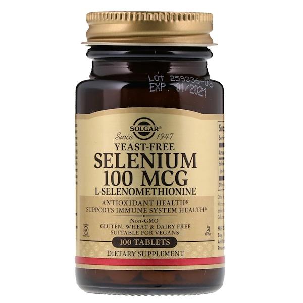 Solgar, Селен, 100мкг, 100 таблеток