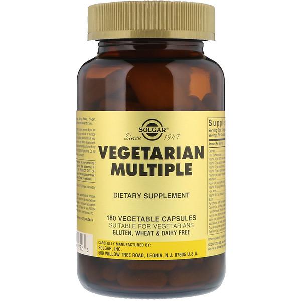 Vegetarian Multiple, 180 растительных капсул