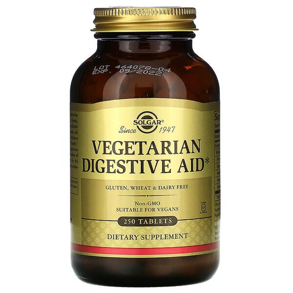Solgar, Вегетарианская помощь пищеварению, 250 таблеток