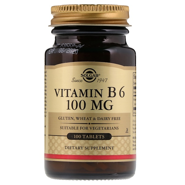 Витамин В6, 100 мг, 100 таблеток