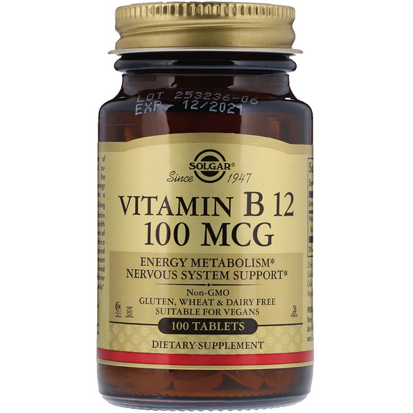 Витамин B12, 100 мкг, 100 таблеток