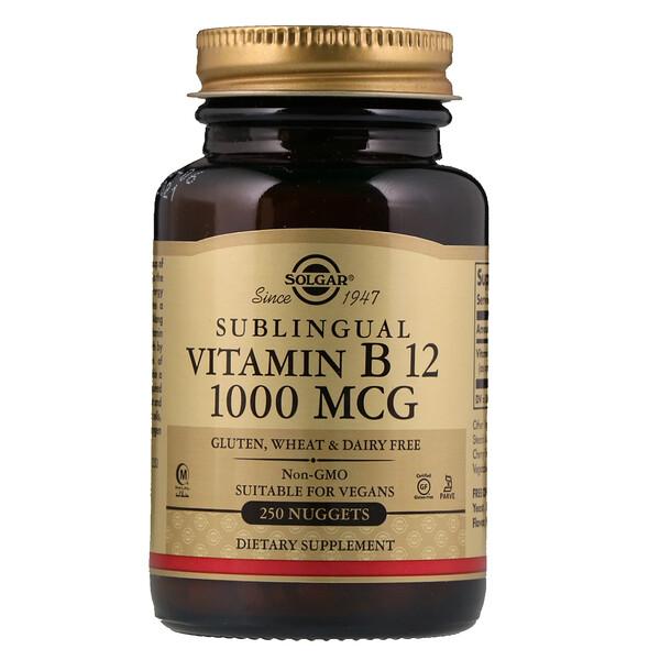 Сублингвальный витамин B12, 1000 мкг, 250 капсул