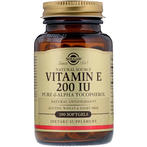 Натуральный витаминЕ, 200МЕ, 100мягких таблеток