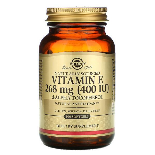 натуральный витаминE, 268мг (400МЕ), 100капсул
