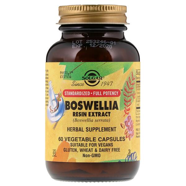 Экстракт смолы босвеллии, 60 растительных капсул