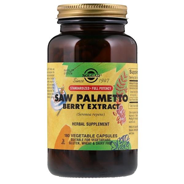 Экстракт плодов пальмы сереноа, 180 растительных капсул