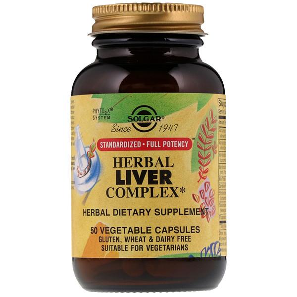 Solgar, травяной комплекс для здоровья печени, 50 растительных капсул (Discontinued Item)
