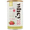 Solgar, Whey To Go, порошок сывороточного белка, клубника, 453,5 г (16 унций)