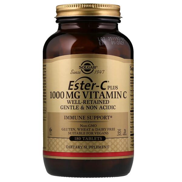 Solgar, Ester-C Plus, Витамин C, 1 000 мг, 180 таблеток