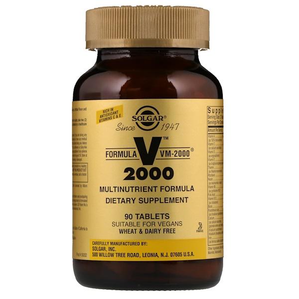 Solgar, FormulaVM-2000, мультинутриентный комплекс, 90таблеток